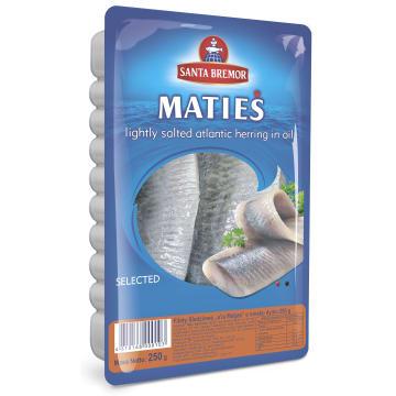 SANTA BREMOR Filety śledziowe a`la Matjas o smaku dymu 250g