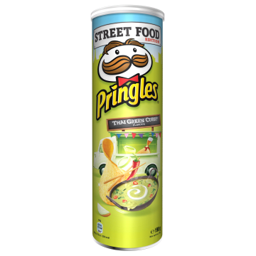 PRINGLES Street Food Chipsy Thai Green Curry 190g