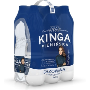 KINGA PIENIŃSKA Naturalna woda mineralna gazowana niskosodowa 9l