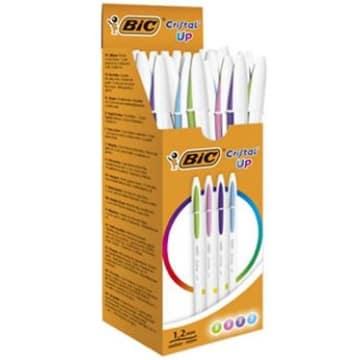 BIC Cristal Up Długopis jasnozielony, jasnoniebieski, różowy, fioletowy 20 szt. 1szt