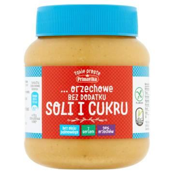 PRIMAVIKA Masło orzechowe bez soli i cukru 350g