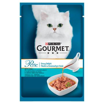GOURMET Perle Pokarm dla kotów- Fileciki w smakowitym sosie z tuńczykiem 85g