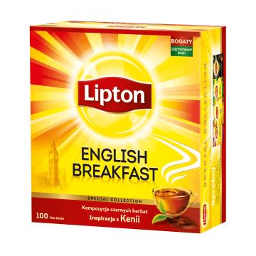 LIPTON English Breakfast Herbata czarna 100 torebek 200g