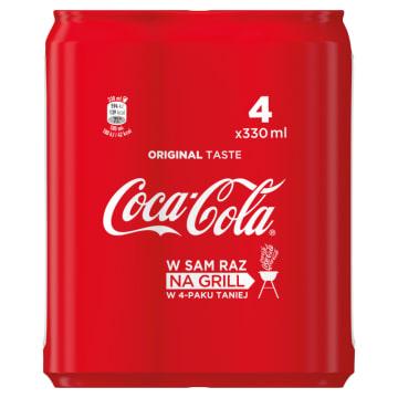 COCA-COLA Napój gazowany 4x330ml 1.32l