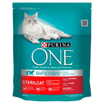 Pokarm dla kotów z wołowiną i pszenicą - Purina One to zdrowe uzupełnienie diety pupila.