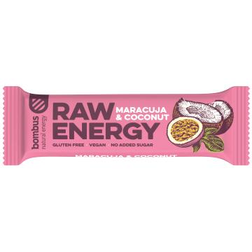 BOMBUS RAW ENERGY Baton marakuja-kokos  (bezglutenowy) 50g