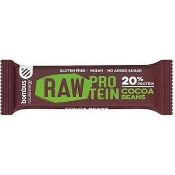 BOMBUS RAW PROTEIN Baton ziarno kakaowca  (bezglutenowy) 50g