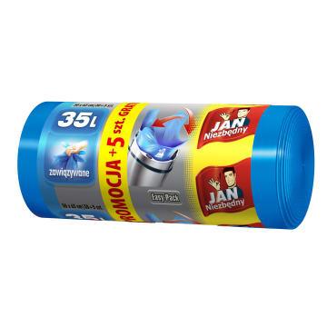 JAN NIEZBĘDNY Easy-Pack Worki na śmieci 35l 30 szt. + 5 szt. GRATIS 1szt