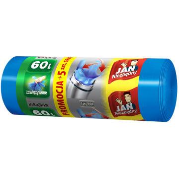 JAN NIEZBĘDNY Easy-Pack Worki na śmieci 60l 20 szt. + 5 szt. GRATIS 1szt