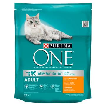 PURINA ONE Adult Karma dla dorosłych kotów bogata w kurczaka i pełne ziarna 800g