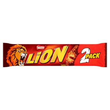 Nestlé Lion - Baton 2pack. Szybka i pyszna przekąska w czasie przerwy.