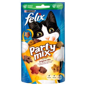Przekąska dla kotów Original Mix Purina Felix to smaczne uzupełnienie kociej diety.
