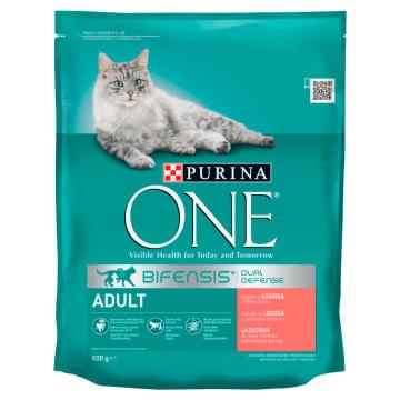 PURINA ONE Adult Karma dla dorosłych kotów bogata w łososia i pełne ziarna 800g