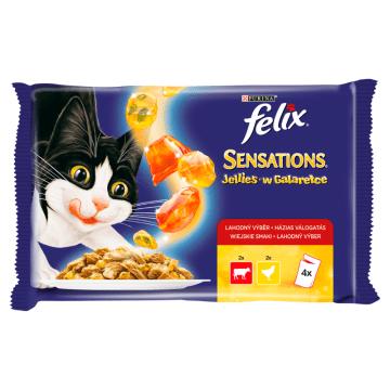 FELIX Sensations Karma dla kotów z wołowiną i kurczakiem w galaretce 4x100g 400g