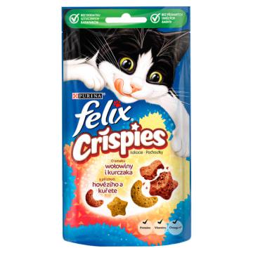 FELIX® Crispies Przekąska dla kotów o smaku wołowiny i kurczaka 45g