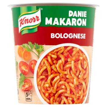 Danie makaron z sosem bolońskim-Knorr. Przekąska, która rozgrzeje, nasyci i zaspokoi głód.