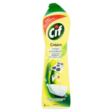 Mleczko do czyszczenia Lemon – Cif to popularny środek, który nie rysuje powierzchni.