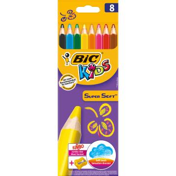 BIC Kids Kredki 8 kolorów + temperówka 1szt
