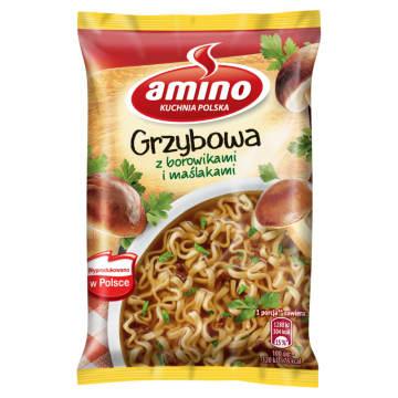 Zupa błyskawiczna grzybowa - Amino - z prawdziwych, suszonych warzyw