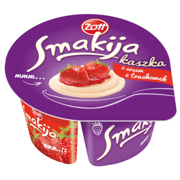 Kaszka manna z sosem z truskawek - ZOTT. Na śniadanie i nie tylko.