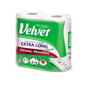 VELVET Ręcznik papierowy Najdłuższy z nadrukiem 2 rolki 1szt