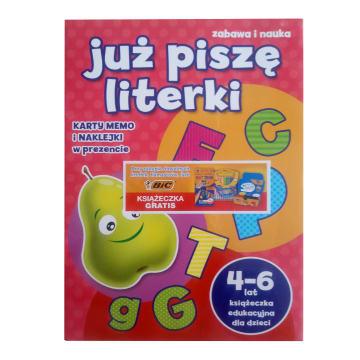 BIC Książeczka edukacyjna dla dzieci JUŻ PISZĘ LITERKI 1szt