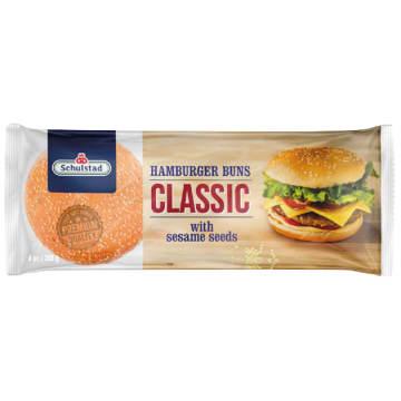 SCHULSTAD Hamburger Buns Classic z sezamem 6 szt 300g