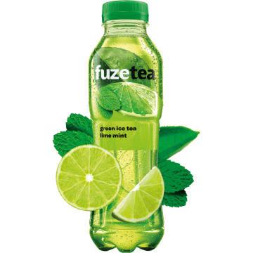 FUZETEA Napój o smaku limonkowo-miętowym z ekstraktem z zielonej herbaty 500ml