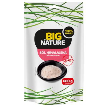 BIG NATURE Sól himalajska rożowa drobna 600g