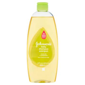 Szampon rumiankowy – Johnsons Baby dla jasnych dziecięcych włosów.
