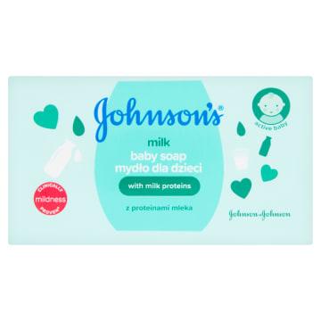 Mydło z proteinami mleka – Johnsons Baby doskonale nawilża skórę dziecka..
