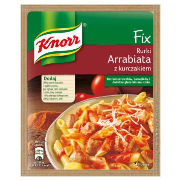 Knorr FIX - Rurki Arrabiata z kurczakiem.Włoska kuchnia w zasięgu ręki.