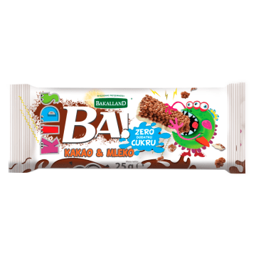 BAKALLAND BA! Baton Kids kakao i mleko 25g