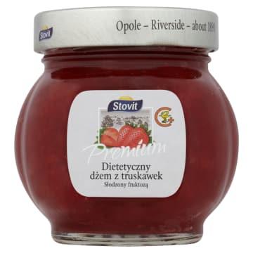 STOVIT Premium Dżem dietetyczny z truskawek słodzony fruktozą 240g