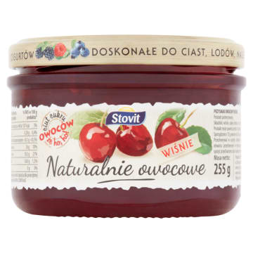 STOVIT Naturalnie owocowe Wiśnie - przysmak owocowy 255g