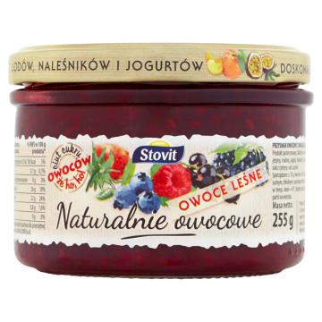 STOVIT Naturalnie owocowe Owoce leśne - przysmak owocowy 255g