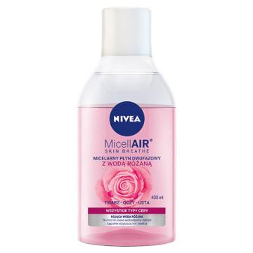 NIVEA MicellAir Skin Breathe Płyn dwufazowy z wodą różaną 400ml