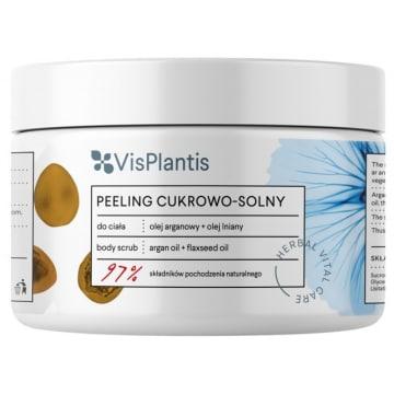 VIS PLANTIS Peeling cukrowo - solny Olej arganowy + Olej lniany 200ml