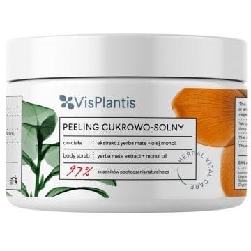 VIS PLANTIS Peeling cukrowo - solny Ekstrakt z yerba mate + Olej monoi 200ml