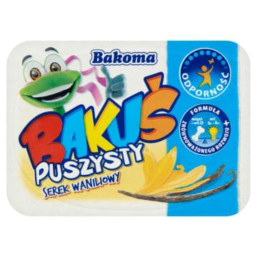 Serek waniliowy Bakuś - Bakoma to bogate źródło wapnia i witamin.