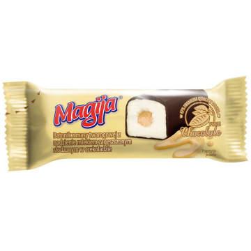 Baton twarogowy - Magija. Baton wytwarzany z serka twarogowego z dodatkiem mleka skondensowanego.