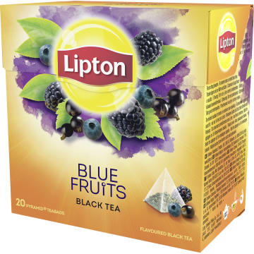 LIPTON Herbata czarna aromatyzowana Owoce Jagodowe 20 piramidek 36g
