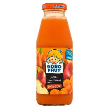 Bobo Frut-Sok jabłko, marchewka dla dzieci po 4miesiącu. Wytworzony z myślą o najmłodszych.