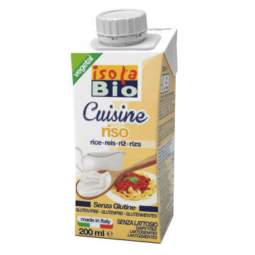ISOLA BIO Krem do gotowania ryżowy bezglutenowy BIO 200ml