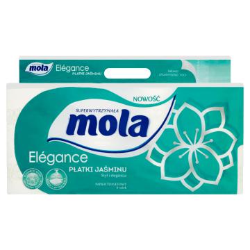 Papier toaletowy o zapachu jaśminu – Mola to higiena podczas porannej i wieczornej toalety.