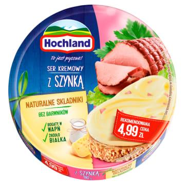 Hochland-Ser topiony w krążku z szynką 200g to świetny produkt do pracy lub na biwak.