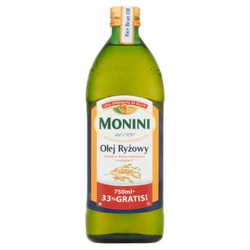 Olej z ryżu 750ml + 33% Gratis 1000ml - Monini. Niezbędny w każdej kuchni.