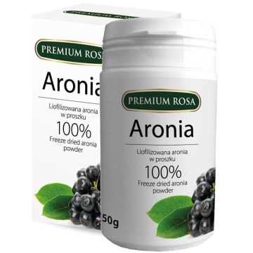 PREMIUM ROSA Aronia liofilizowana w proszku 50g