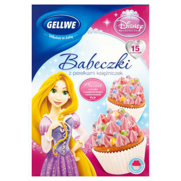 GELLWE Disney Babeczki z perełkami księżniczek 237g
