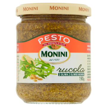 Sos do makaronu Pesto Rukola – Monini tradycyjne włoskie pesto, doskonałe do wielu potraw.